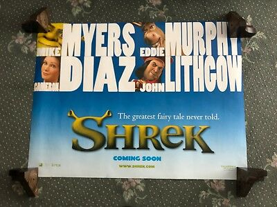 Cinema Poster: SHREK 2001 (Main Quad) Eddie Murphy Mike Myers Cameron Diaz