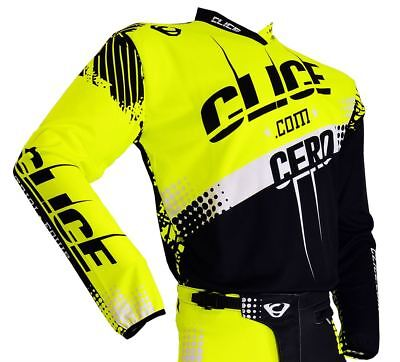 LARGE Clice Trials TOP SHIRT Fluorescent YELLOW BLACK WHITE GASGAS SHERCO TRS