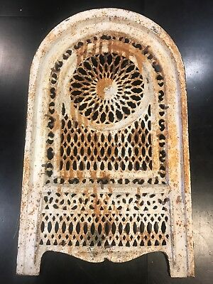 Antique Cast Iron Arched Wall Heating Vent Grate Register Stove ~24""