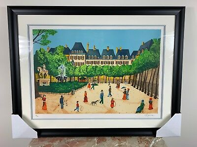 """HEINE /""""Montmarte/"""" Hand Signed Limited Edition Lithograph FRANCE French Art"""