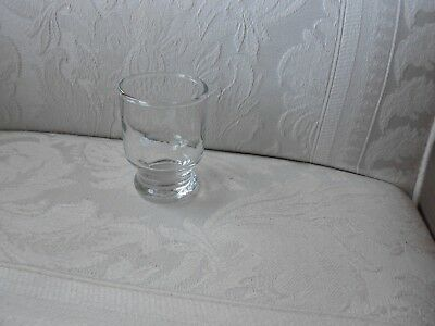 """Vintage Shot Glass EASTERN AIRLINES First Class Service Footed 2-5/8"""" Shooter"""
