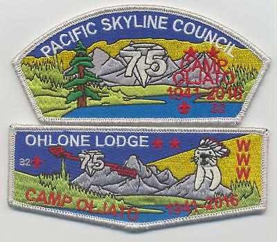 OA Ohlone Lodge 63 Camp Oljato flap and CSP numbered set #32 mint