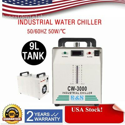 Industrial Water Chiller cool single 80W 60W CO2 Laser Tube CW-3000 110V 60HZ US