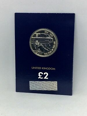 2017 WW1 AVIATION £2 Two Pound Brilliant UNCIRCULATED Coin - UK Royal Mint