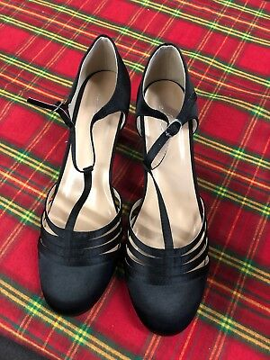 "Woman's 2.5"" Heel Satin Dance Shoe Lucille By Ellie Size 10"