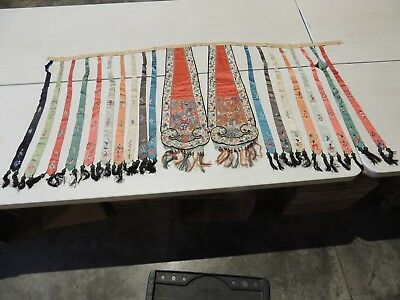 Extraordinary, Antique Qing Dynasty, Silk Embroidery Sash Or Belt, For Robe!!!