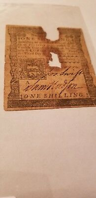 Colonial 1  Shilling  1772