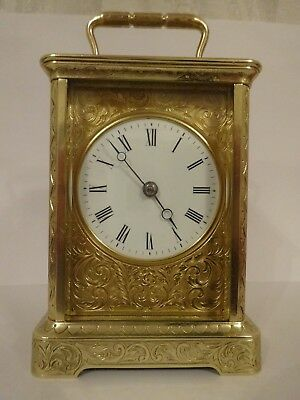 Beautiful antique French striking carriage clock - c. 1860/5 - restored 10/18