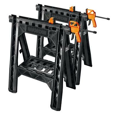 Pleasing Plastic Workbench Clamping Sawhorse Pair Work Jobsite Table Andrewgaddart Wooden Chair Designs For Living Room Andrewgaddartcom