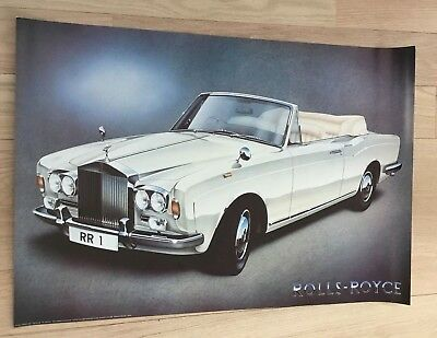 ORIGINAL VINTAGE Rolls Royce 1984 Poster Athena London Painting KEITH HARMER