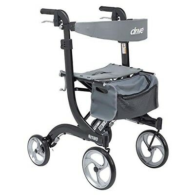 Drive Medical Nitro RTL10266 Euro Style Rollator Walker - upgraded brake cable