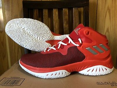 huge selection of 5277d 49a3d adidas Explosive Bounce men basketball shoes NEW red BY3777 Size 11.5