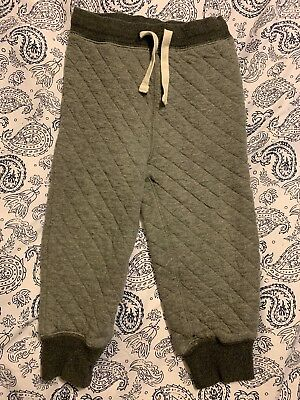 Gap Quilted Lounge Pants with Drawstrings Gray Toddler Size 3 For Kids