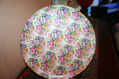 Beautiful Vintage English Chintz Large China Cake Plate