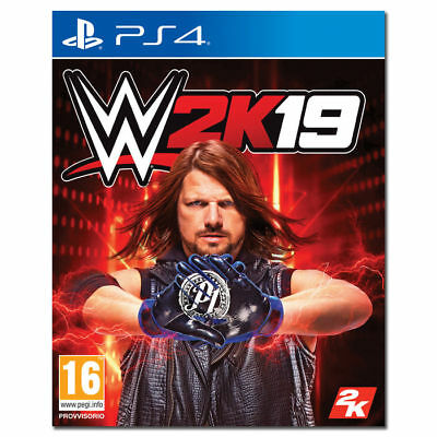 Wwe 2K19 Ps4 Videogioco Wrestling 2019 Italiano Playstation 4 Game Sport Dvd Pc