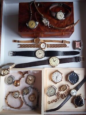 Job Lot of Vintage Watches for Spares Repair Tissot Rotary Citizen Siro Waltham