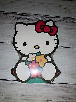 Hello Kitty Sanrio Rare Notepad 2000 Flowers