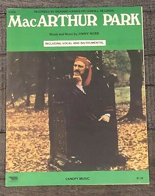 "Richard Harris - ""macarthur Park""  Vintage Sheet Music"