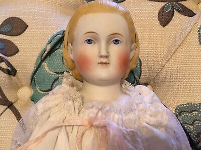 Rare And Lovely Antique Alt Beck & Gottschalk Parian/bisque Shoulder Head Doll.