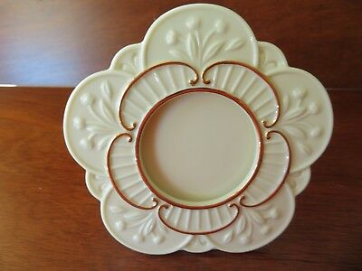 """Lenox Collectible Porcelain 2 1/4"""" Round Stand Up Picture Frame Gold Trim (5X5)"""