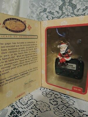 ENESCO CHRISTMAS ORNAMENT: BEEP ME~Mouse ON A PAGER  w/Box