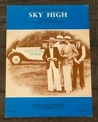 "Jigsaw ""sky High"" Vintage Sheet Music"