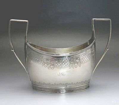 1807-1820 Cork Irish Provincial Sterling Silver Sugar Bowl Carden Terry Williams
