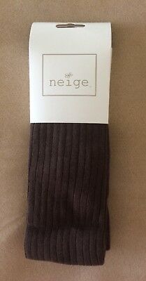 NEW NWT Neige Tights Girls Size 9-12 Expresso Brown