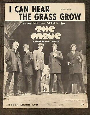"The Move ""i Can Hear The Grass Grow""  Vintage Sheet Music"