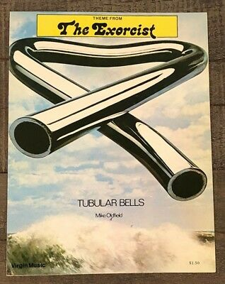 "Mike Oldfield ""tubular Bells (Theme From The Exorcist"" Vintage Sheet Music"
