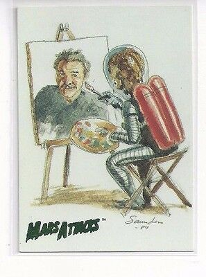 1994 Topps Mars Attacks Base Series #99 - Norm Saunders A Self-Portrait