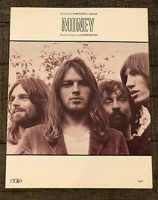 "Pink Floyd ""money"" Vintage Sheet Music"