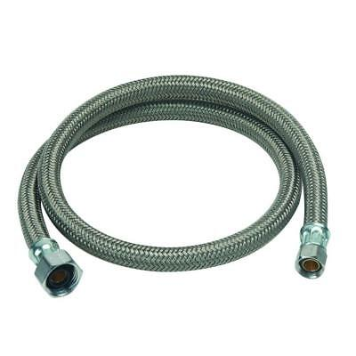 """36"""" Faucet Connector Water Supply Line 1/2"""" FIP 3/8"""" Compression"""