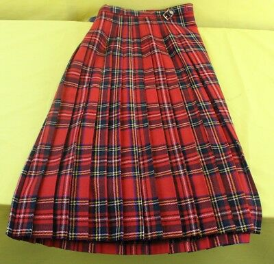 Red Murray Brothers Pure New Wool Kilt Size 16 ##MHA24RG