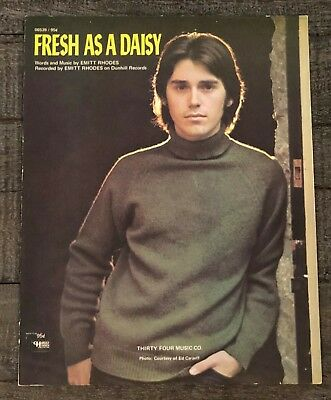 "Emitt Rhodes ""fresh As A Daisy"" Vintage Sheet Music"