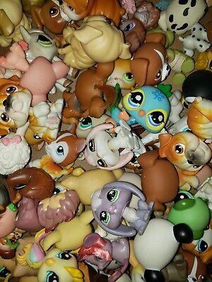Littlest Pet Shop Lot of 5 Random Surprise Blemished Dogs Cats & Others Lps