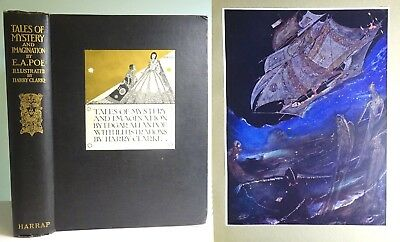 SALE 1928 Tales of Mystery Imagination HARRY CLARKE MASTERPIECE Edgar Allan Poe