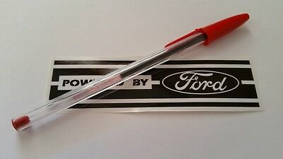 "#7C ""Powered by FORD""  oldschool sticker for Capri / Escort / Cortina / Sierra"
