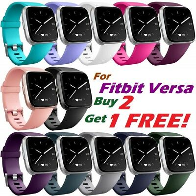 Replacement Silicone Classic Rubber Band Strap Wristband For Fitbit Versa Watch