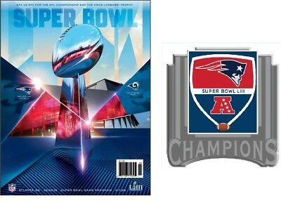 Super Bowl 53 National Program With New England Patriots Pin Superbowl Liii