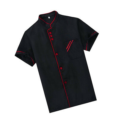 1 pc Chef Uniform Breathable Basical Unisex Catering Shirt Chef Jacket for Hotel