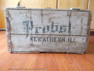 Rare Probst New Athens Ill Pre-Prohibition Beer Soda Wood Crate Case Box