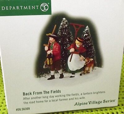 Dept 56 Alpine Village BACK FROM THE FIELDS Excellent Mint Condition, Retired