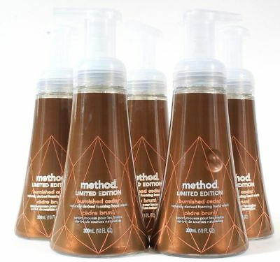 (6) Method Limited Edition Burnished Cedar Naturally Derived Foaming Hand Wash