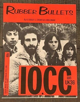 "10Cc ""rubber Bullets""  Vintage Sheet Music"