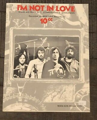 "10Cc ""i'm Not In Love""  Vintage Sheet Music"