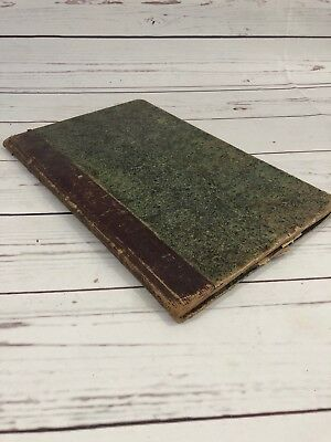 Antique 1845 Scrapbook Poerty Family Record Rare Unusual Ephemera