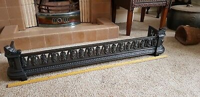 Medium Antique Carron Cast Iron Fender Curb