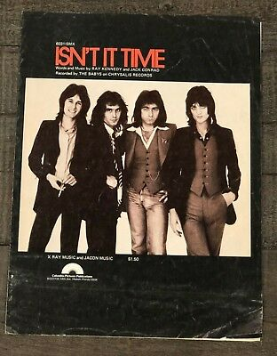 "The Babys (John Waite)  ""isn't It Time"" Vintage Sheet Music"