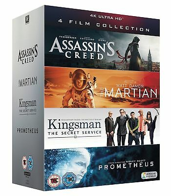 4K Uhd Film Collection - Assassin's Creed, The Martian, Kingsman & Prometheus